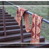 Lindisfarne – Ein Schal quergestrickt