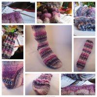 Geflochtene Socken
