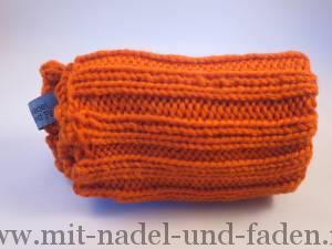 Rippenstulpen in Orange