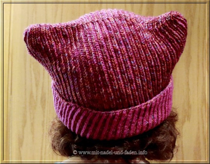 Brioche Kitty Hat in Pink