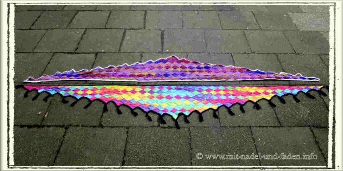 Entrelac Shawl with and without Tassels