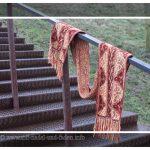 Lindisfarne - Ein Schal quergestrickt