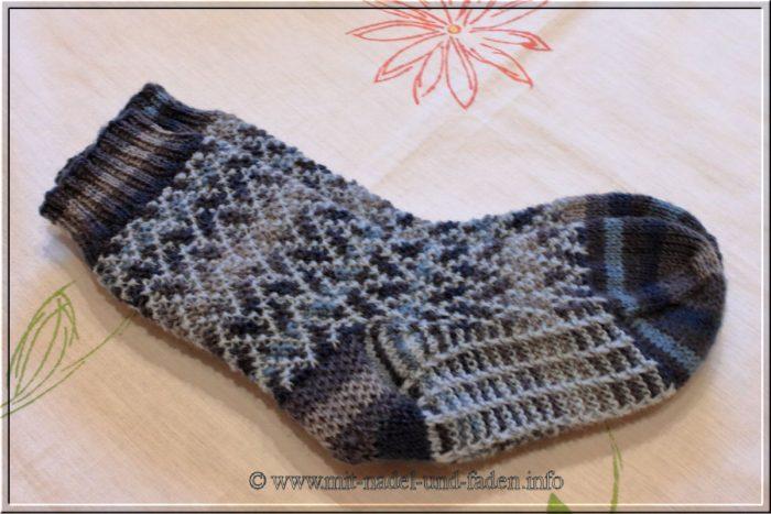 """Socks """"Mosaic 3"""" von Birgit Wedemeier"""