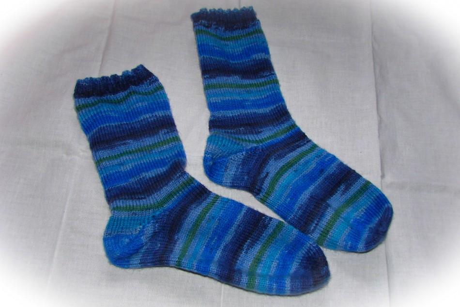Meine ersten selbstgestrickten Socken